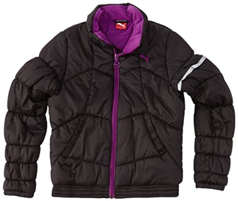 PUMA Mädchen Jacke Padded Jacket, black-sparkling grape, 140, 826098 01