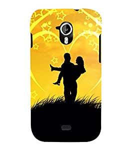 Lovely Pair 3D Hard Polycarbonate Designer Back Case Cover for Micromax Canvas HD A116 :: Micromax Canvas HD Plus A116Q