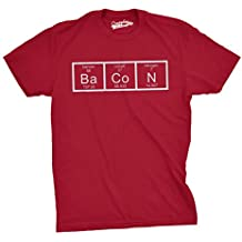 Crazy Dog TShirts - Mens The Chemistry Of Bacon T Shirt Funny Brunch Periodic Table Science Tee - Camiseta Divertidas