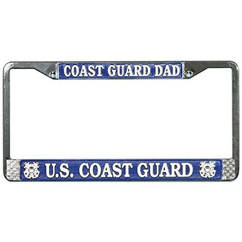 U.S. Coast Guard DAD License Plate Frame (Chrome Metal) by Lpsusa - Coast Guard License Plate