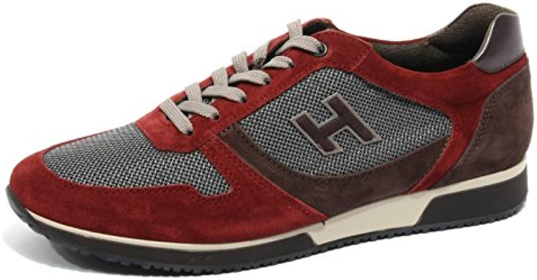 Hogan B2076 scarpe da ginnastica ginnastica ginnastica Uomo Slash H Flock Bordeaux Marronee scarpe Men | Resistenza Forte Da Calore E Resistente  a63a7c