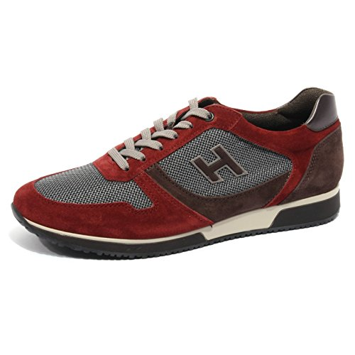B2076 sneaker uomo HOGAN SLASH H FLOCK bordeaux/marrone shoe men [8]