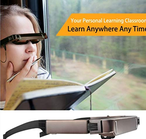 ETbotu 3D Brille,Vision 800 Smart Android WiFi Brille Breitbild Portable Video Private Theater mit Bluetooth-Kamera (Video Brille Virtual Theater)