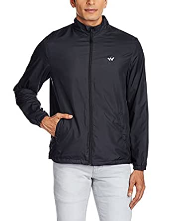 Wildcraft Men's Polyester Jacket (8903338050605_Azi Wind Cheater-M Ant S)