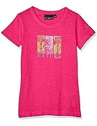 CMP T-Shirt 39T7515 Camiseta, Niñas, Geraneo, 176
