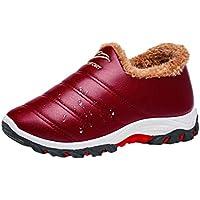 Zapatos Casuales de Mujer, Zapatillas Deportivas de algodón Impermeables Antideslizantes a Rayas Impermeables cálidas y cómodas de Terciopelo Moda Mujer