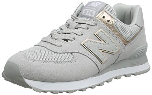 New Balance Damen 574v2 Sneaker, Weiß Rain Cloud, 41.5 EU (Weißen Leder New Balance Schuhe)