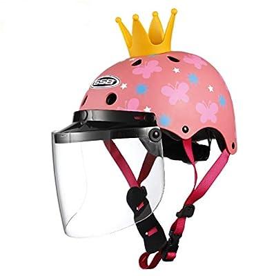 Children's Helmet Electric Motorcycle Baby Helmet Child Summer Sun Boy Boys And Girls Season Helmet Lens Removable by HJL