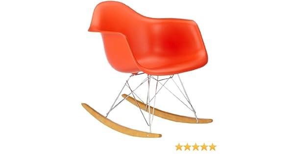 Vitra 4401130003 Stuhl RAR Eames Plastic Armchair Gestell Verchromt, Rot:  Amazon.de: Küche U0026 Haushalt