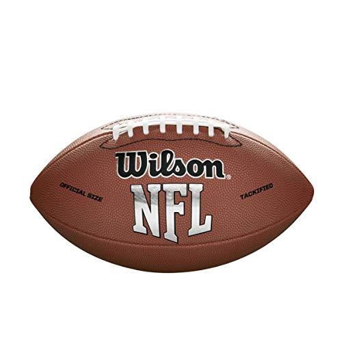 WILSON NFL MVP Fußball, Unisex, F1415 NFL MVP Football (Official Size), braun, Official