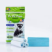 60 Pet Pee Pads Disposable Absorbent Quick Drying for Potty Training 60 * 60 CM LARGE