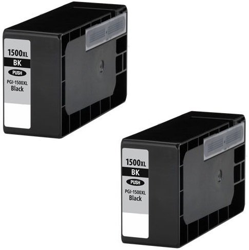 2 XL SCHWARZ Druckerpatronen für Canon Maxify MB2000 Series, MB2050, MB2300 Series, MB2350   kompatibel zu Canon PGI-1500XL