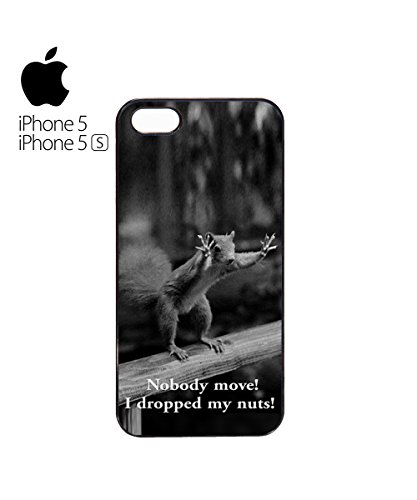 Nobody Move! I Dropped My Nuts! Funny Squirrel Mobile Phone Case Cover iPhone 6 Plus + White Blanc