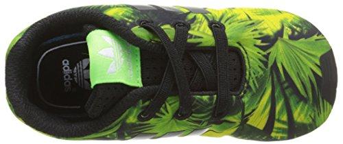adidas Unisex Baby Zx Flux Crib Krabbelschuhe Schwarz - Noir (Core Black/Core Black/Core Black)