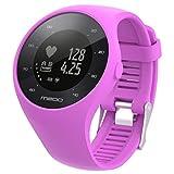 Polar M200 Sisit Bande de montre de rechange en silicone souple pour montre Polar M200 Fitness 235mm de long bracelet en caoutchouc / bracelet (Violet)