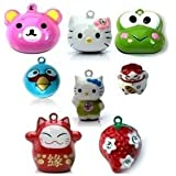 Pet Wholesale Cartoon Bell for Collar for Cats and Dogs (2 Charm, Small), (Color May Vary)