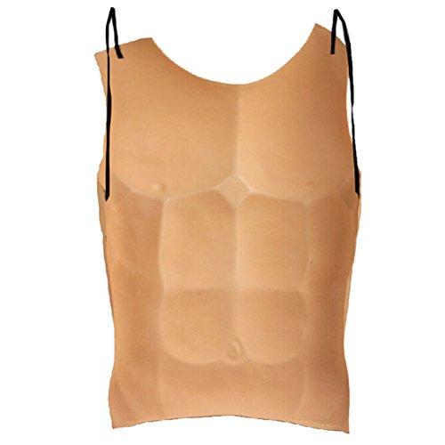 (BESTOYARD Halloween Disfraz Divertido realista Brust Männer Gefälschte Muskelrequisiten Cosplay Trucco)