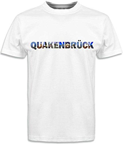 T-Shirt mit Städtenamen Quakenbrück Weiß