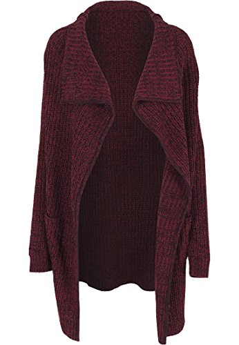 Urban Classics - Mantel Knitted Long Cape, Giubbotto Donna, Multicolore (Burgundy), X-Small (Taglia Produttore: X-Small)
