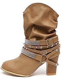 Para Alto Tacon Amazon 39 Botas es Mujer Zapatos 8wwqYtE ed9f08643b0