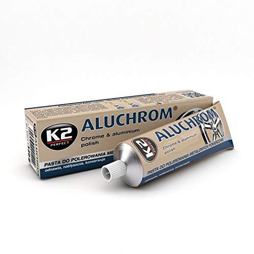K2 Aluchrom, Felgenpolitur, Felgenreinigung, Profipolitur, Metall polieren, konserviert, schützt, pflegt, lässt die Felgen spiegeln, 120g
