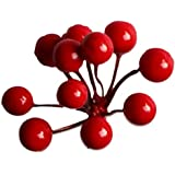 Decoration Craft Pack of 5 Bunch of 11 Decorative Plastic Cherry