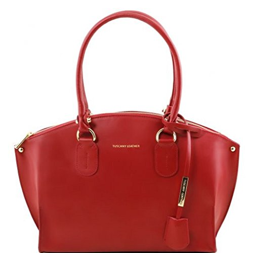 81416434 - TUSCANY LEATHER: DIANA - Sac cabas en cuir, rouge