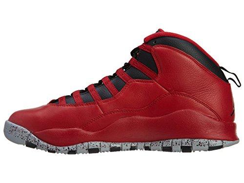 Nike Air Jordan 10 Retro 30th, Chaussures de Sport Homme Multicolore - Rojo / Negro / Gris (Gym Red/Black-Wolf Grey)