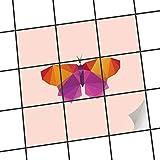 creatisto Fliesen-Dekor, Badezimmerfliesen | Fliesenfolie Sticker Aufkleber Bad Küche ergänzend zu Kühlschrankmagnet Innendekoration | 15x15 cm Design Motiv Origami Butterfly - 9 Stück