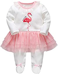Bebé Niñas Peleles Algodón Mameluco Tutú Pijama Recién Nacido Footies Tuta Sleepsuit Outfits