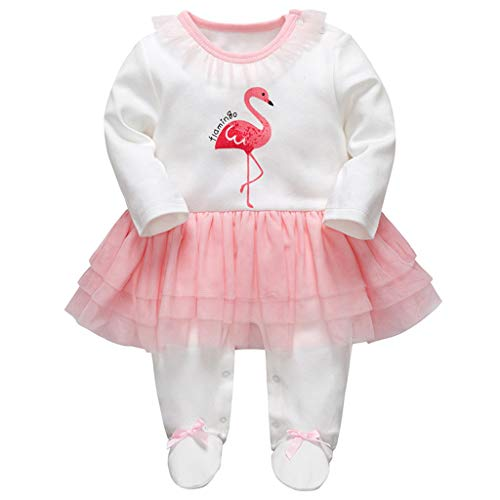 Baby Mädchen Tütü Strampler Gestreift Spielanzug Footed Overalls Säugling Schlafanzug Outfits, 6-9 Monate (8 Strampler Mädchen)