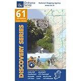 OS Ordnance Survey Ireland 61, Wanderkarte: Carlow, Kildare, Kilkenny, Laois, Wicklow