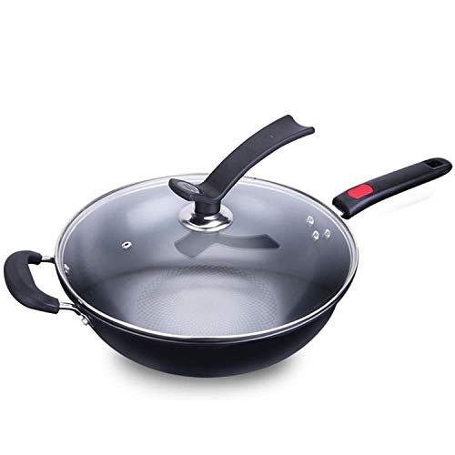 FRINGANP Bratpfanne Home Einzigen Griff Feine Bügeleisen Fry Pan Tao LCD Flachen Pfanne Gusseisen Topf Smokeless -
