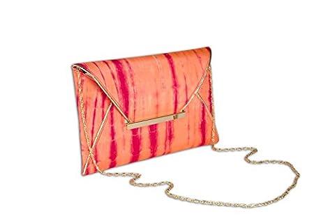 Arancia Women's Tie Dye Envelope Clutch Orange Pink