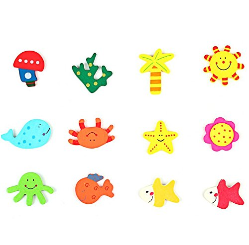 (Gaddrt Netter 12 PCS Cartoon Tier Magnetische Baby Pädagogisches Spielzeug Aufkleber Küche Kühlschrank Wandaufkleber)