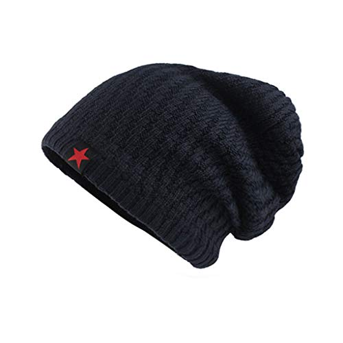 Saingace(TM) Slouch Beanie Mütze Winter Strickmützen | Dicke Weiche Stretch Warme Wintermütze Long Beanie für Herren und - Royal Maiden Kind Kostüm
