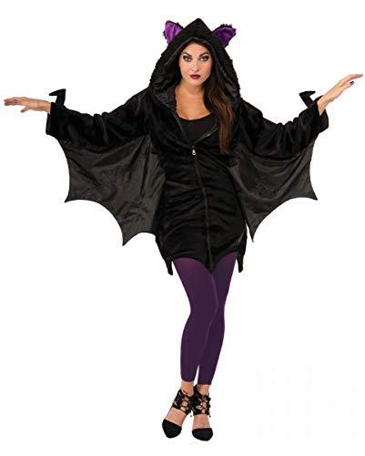 Kostüm Verwandte Trinken - Horror-Shop Fledermaus Hoodie mit Flügeln für Erwachsene