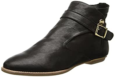 House of Harlow 1960 Holly, Boots compensées femme - Noir (Black Leather), 36.5 EU