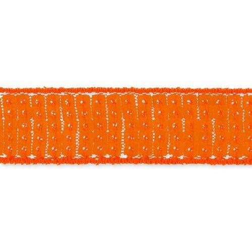 Cinta lentejuelas 20 mm naranja Vivo x 1m