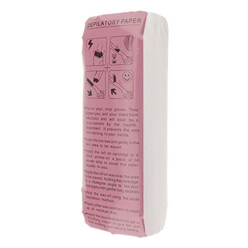 perfk 100pcs- Vliesstreifen für Haarentfernung - Warmwachs und Zuckerpaste Vliesstreifen