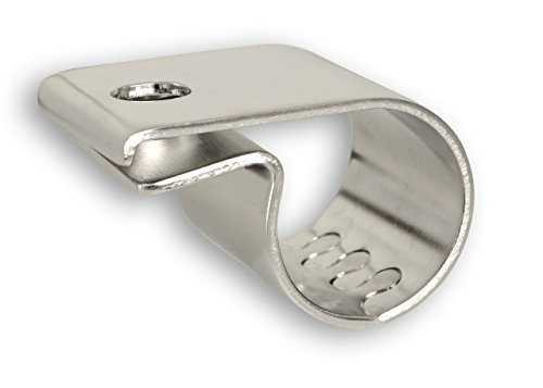 Universell passende Edelstahl-Rohrschelle ø 41 bis 43 mm für Lampenbügel, Frontbügel, Überrollbügel etc. 41-43mm.
