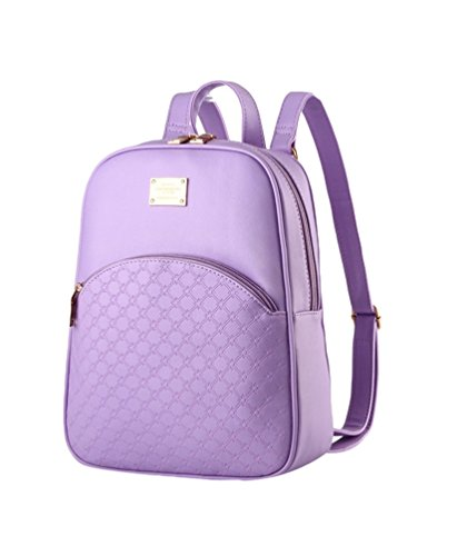 CHENGYANG Teenager-Mädchen Vintage Leicht Schultertasche Rucksack Für Chule Violett