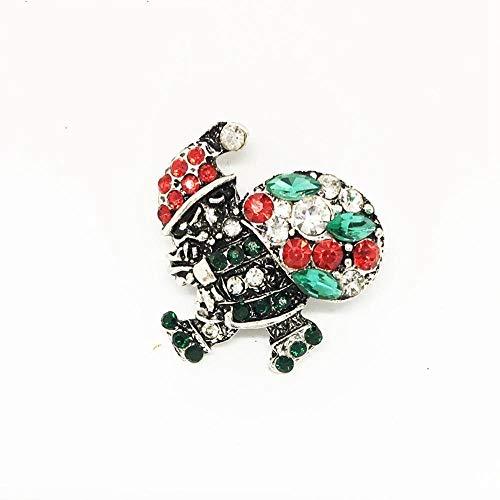 Tcaijing Broschen Brosche Vintage Weihnachten Schmuck Mode Legierung Diamant Santa (Santa Haut Anzug)