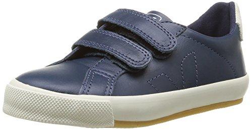 Veja  Esplar Velcro Leather,  Sneaker ragazzo Blu Bleu (Nautico) 32