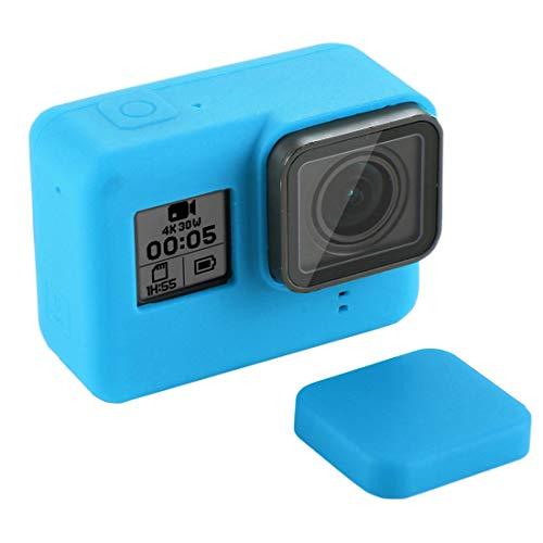 Descripción de producto: 1. Funda de silicona de alta calidad especialmente diseñada para GoPro HERO7 Black / 7 White / 7 Silver / 6/5 (Black). 2. Fácil y conveniente de usar. 3. Hecho de silicona suave y flexible. 4. Es útil para evitar el polvo, la...
