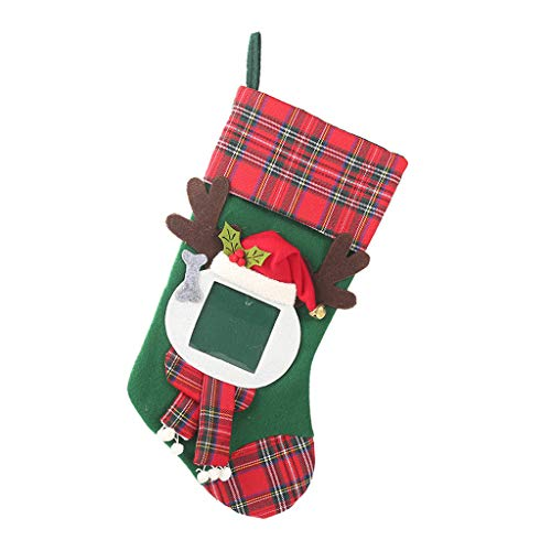 Damen-candy-gestreifte Socken (Myspace 2019 Dekoration für Christmas Weihnachten Neue Weinflasche Dekorative Gestreifte Strümpfe Socken Santa Claus Plaid Rock Wein Set Big Hanging Candy Gift Bag)