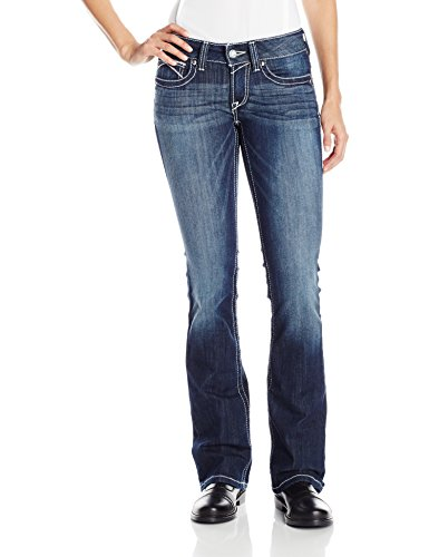 Ariat Women's R.E.A.L. Riding Low Rise Boot Cut Jean, Lakeshore, 34 Regular -