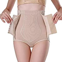 PUGLIFE Sexy Women Body Shaper Female Control Slim Sexy Shaped Underwear Tummy Corset High Waist Shapewear Panty Underwear (L)