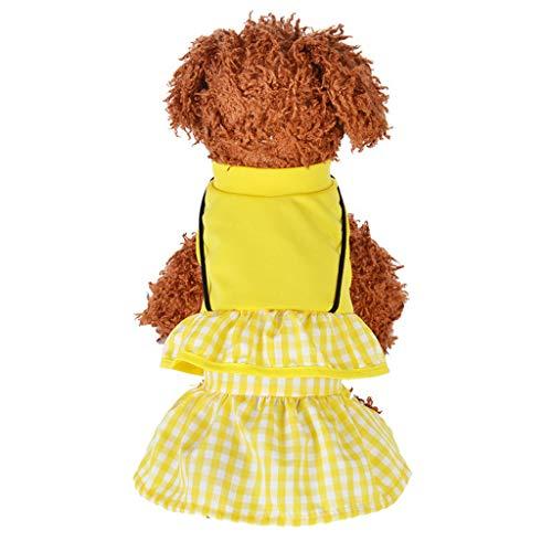 gsaktive Katze Hund Kleidung Leicht Und Atmungsaktiv Prinzessin Rock Hund Weste Natürliche Baumwolle FrüHling Und Sommer Haustier Kleidung Blumendruck Kleid Kostüm ()