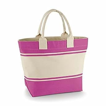 Quadra Canvas Deck Bag (24 Litres) (One Size) (Fuchsia/Natural)